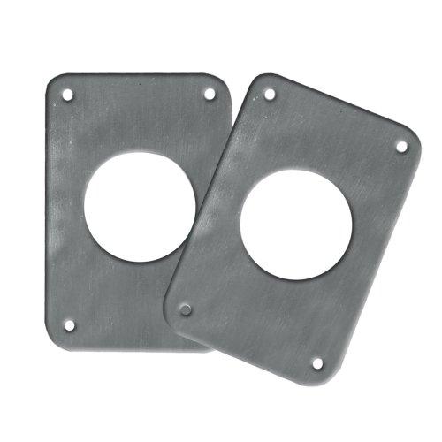 1 - TACO Backing Plates f/Grand Slam Outriggers - Anodized Aluminum (Taco Backing Plates)