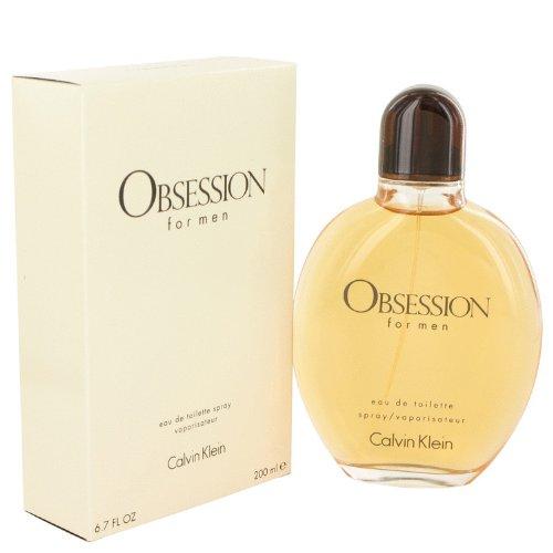 Cálvin Klèin Obséssion Cológne For Men 6.7 oz Eau De Toilette Spray + a FREE 2.6 oz Deodorant (Obsession Deodorant Cologne)
