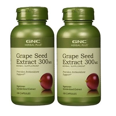 GNC Herbal Plus Grape Seed Extract 300 mg, 100 Count (2 pack)