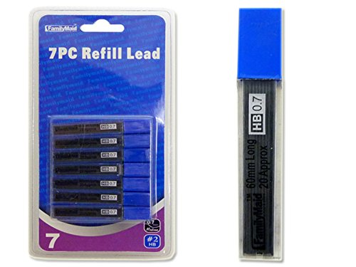 PENCIL LEAD 0.7MM 7PC/BOX , Case of 144 by DollarItemDirect