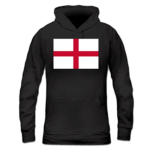 Sudadera con capucha de mujer Flag of England by Shirtcity Negro