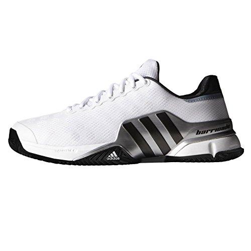 adidas Barricade 2015 Clay Scarpe da Tennis da Uomo, Bianco White