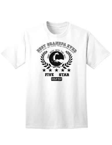 Best Grandpa Ever Collegiate Adult T-Shirt - White - 2XL