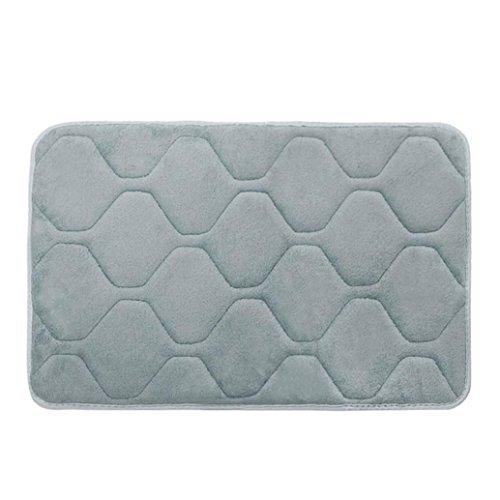 YJYdada Memory Foam Mat Bath Rug Shower Non-slip Floor Carpet (Gray) (Wallpaper Vintage Martha)
