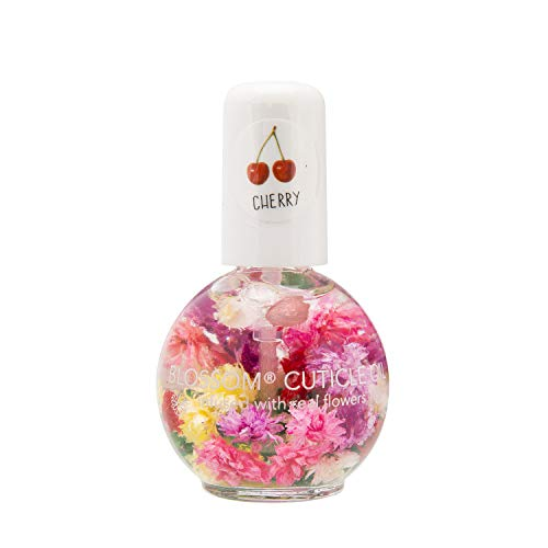 Blossom Scented Cuticle Oil (0.42 oz) infused with REAL flowers - made in USA (Cherry)
