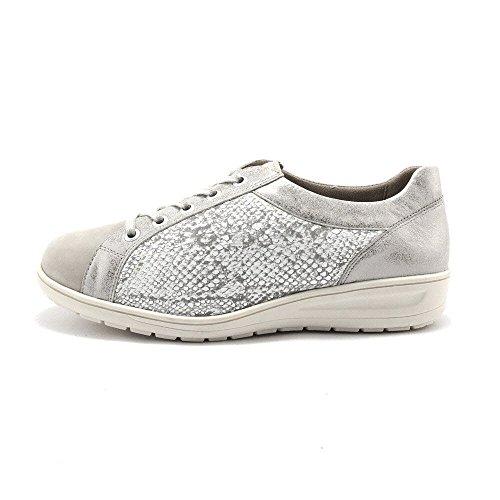 Cordones Mujer Solidus De Kate Zapatos Gris Para wgx16txq