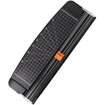 Jielisi 12 inch Rotary Paper Trimmer Titanium A4 Size Paper Cutter with Automatic Security Safeguard for Coupon, Craft Paper and Photo (Black)