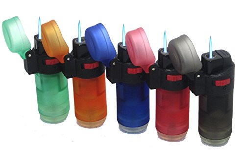 5-Pack Eagle Jet Torch Jumbo Straight Up Torch Cigar Lighter Butane Adjustable Refillable