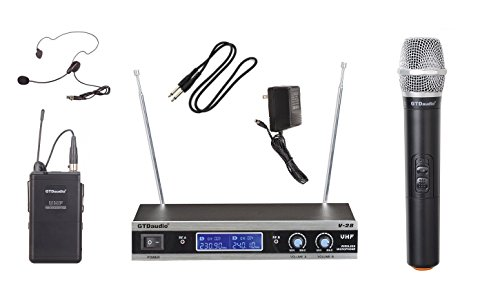 GTD Audio V-28HL VHF Wireless Microphone System with Hand he