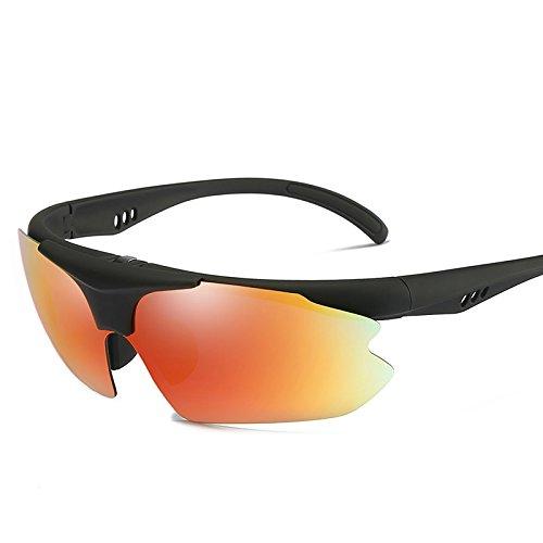 Gafas Gafas Caja Con Sol De Roja Plegable TIANLIANG04 Hombres red Lente Uv400 Para Reborde Polarizadas De La De Conducción Hombres Semi Sol Polarizadas lens PfzxZwqEF
