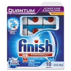 Finish® Quantum Dishwasher Tabs, With Baking Soda, Blue (REC85109) Category: Dishwasher - Dishwasher Baking Soda