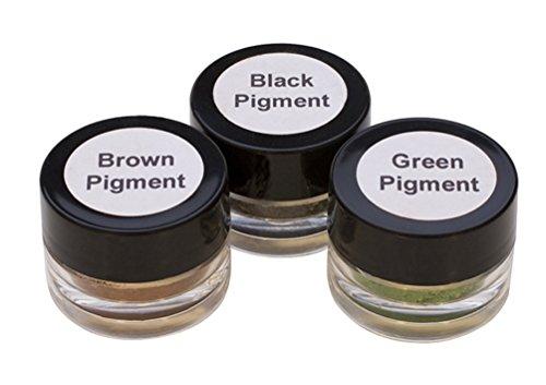 Set of 3 Color Pigment Refill Kit for The EnCapture Artisan Concrete Kit - Black Brown & Green Jewelry Making Kit