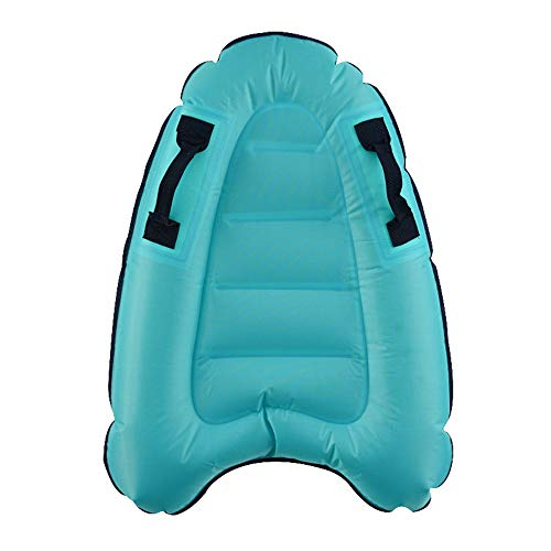 Neekor Inflatable Floating Rafts/Rider, Portable Safety Swim Paddle Surfing Water Sports Equipment Inflatable Surfboard, Size: 30x20x6inch (Blue)