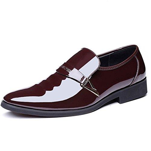 Oxfords Marrón de Hombre Vestir Cordones Hombre Zapatos Bajos Zapatos Zapatos Hombre Zapatos Zapatos de qianchuangyuan de Bandas Zapatos PU de Casuales Cuero de Para fg8f41q