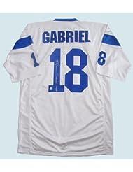 Roman Gabriel Signed White Jersey - Los Angeles Rams