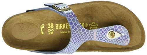 Birkenstock Gizeh Birko-Flor - Sandalias de dedo Mujer Azul - Blau (Shiny Snake Sky)
