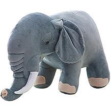 Lovely Elephant Doll Toy Couple Plush Toys Birthday Gift Dark Grey