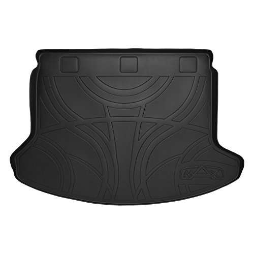 MAXLINER All Weather Cargo Liner Floor Mat Black for 2008-2013 Nissan Rogue / 2014-2015 Rogue Select