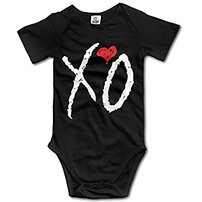 QCNEY Baby's Xo Weeknd Logo Bodysuit Romper Jumpsuit Baby Clothes