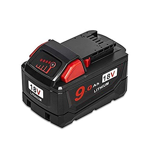 JHTtech 18V XC 9.0Ah Lithium-Ion Replacement Battery Compatible with Milwaukee 48-11-1840, 48-11-1815,48-11-1820, 48-11-1890 Milwaukee 18-volt Battery