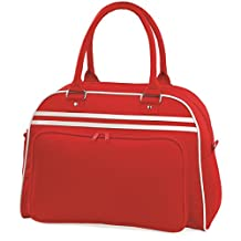 Retro Bowling Bag by BagBase - 7 Colours Avilable - Classic Red/White -