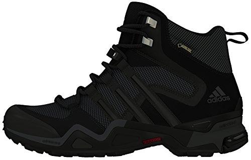 adidas Fast X High GTX, Scarpe da Arrampicata Uomo Nero (Core Black/Dark Grey/Power Red)