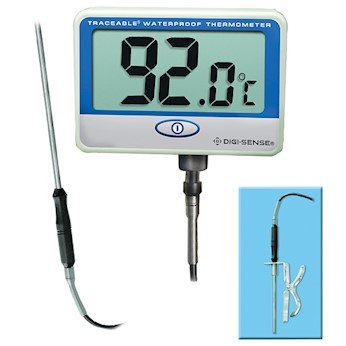 Digi-Sense Calibrated Remote Probe Digital Thermometer, Extra Long, Waterproof by Digi-Sense