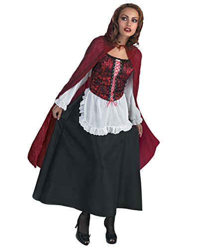 Red Riding Hood Costume Red Cape Fairy Tale Halloween Sizes: One Size