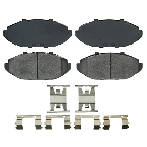 Wagner QuickStop ZX748 Semi-Metallic Disc Pad Set Includes Pad Installation Hardware, - Crown Brake Pads Front Victoria