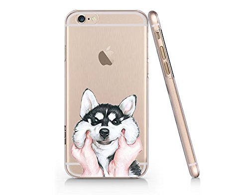 a730edc0e2 Image Unavailable. Image not available for. Color: Cute Husky Dog Slim  Transparent Iphone 6 6s Case ...