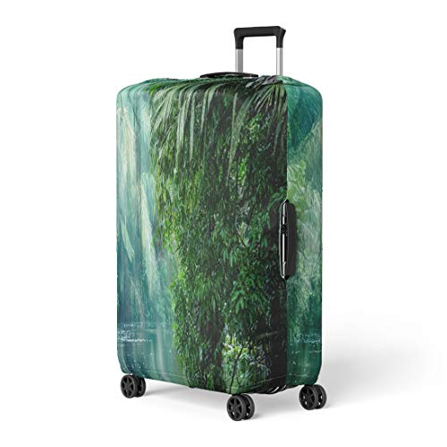Pinbeam Luggage Cover Tortuguero National Park Rainforest Costa Rica Caribbean Coast Travel Suitcase Cover Protector Baggage Case Fits 18-22 - Tortuguero Park National