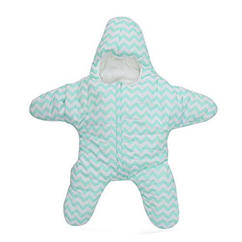 Newborn Infant Baby Bunting Bag Winter Starfish Sleeping Bag 0-12M (blue) (Original Batman Suit)