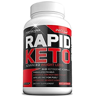 Rapid Keto Diet Pills | Advanced Ketogenic Diet Weight Loss Supplement | BHB Salts Exogenous Ketones Capsules For Men & Women | Fast & Effective Ketosis Diet Fat Burner | Promote Energy & Focus | 60ct