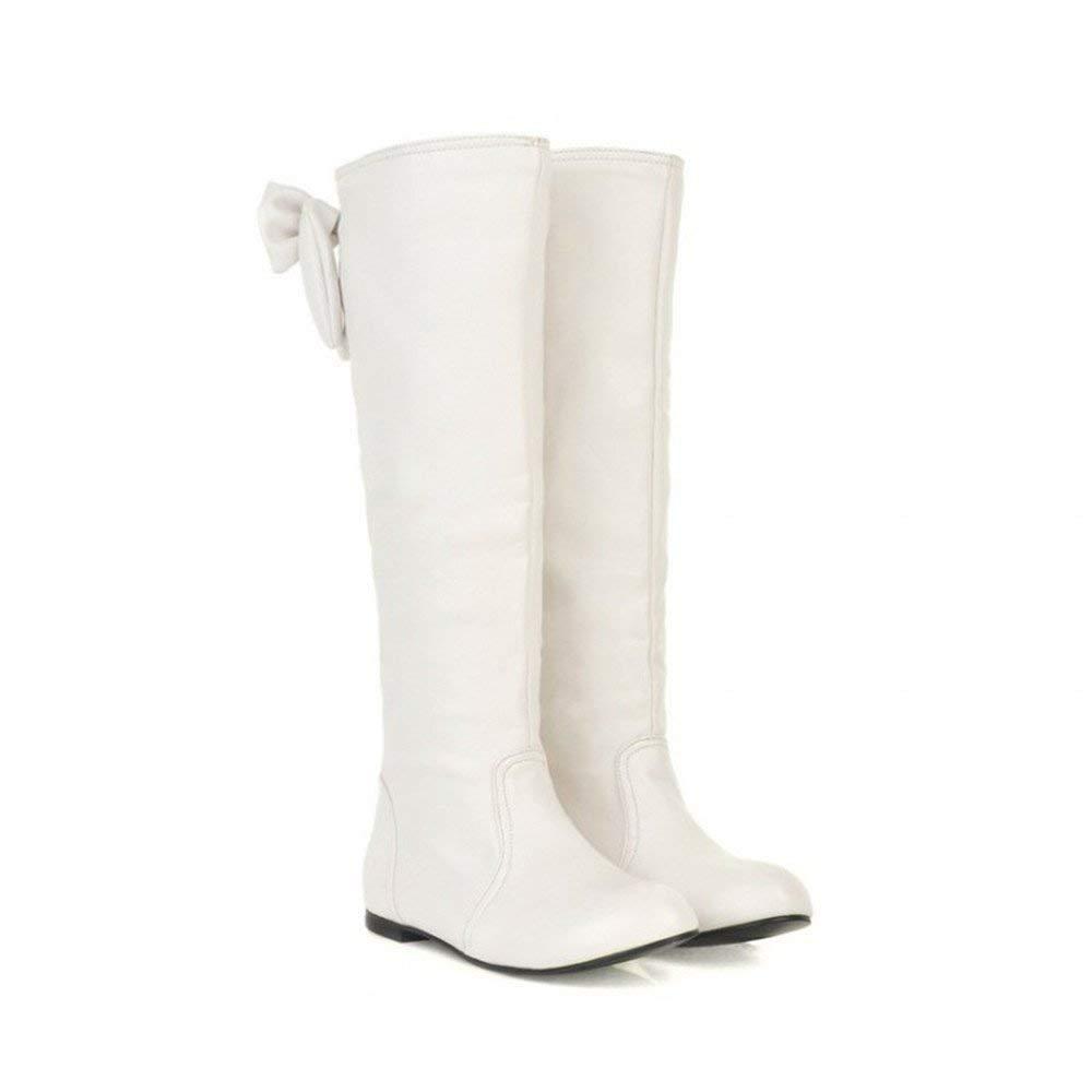 Oudan Oudan Oudan Botas Zapatos de Mujer Botas de Mujer Botas de Invierno de Moda C oacute;modo Bowknot Botas Altas de Muslo con Punta Redonda y Plana Botas de Invierno Elegantes (Color : Marr oacute;n Claro, tama ntilde;o : 38 EU) 486ceb