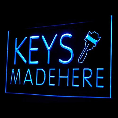 190058 Keys Made Here Car Key House Office Locksmiths Display LED Light - Locksmith Sign Led