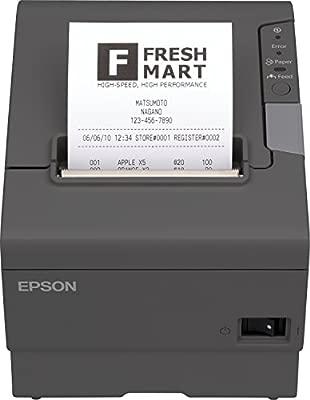 Epson C31CA85042 - Impresora térmica de Recibos, Negro, Plateado