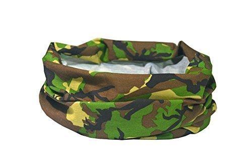 WALD ARMEE TARNMUSTER / CAMOUFLAGE DESIGN - RUFFNEK Multifunktionale Kopfbedeckung Halstuch für Männer, Damen & Kinder