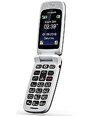 Teléfono móvil con tapa para personas mayores, teclas grandes, Isheep SF213 GSM, pantalla de 2,4 pulgadas, tecla de emergencia, cámara, negro