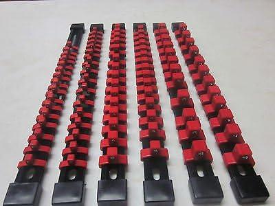 5 GOLIATH INDUSTRIAL 3//8 ABS MOUNTABLE SOCKET RAIL HOLDER ORGANIZER BLACK SH38BL