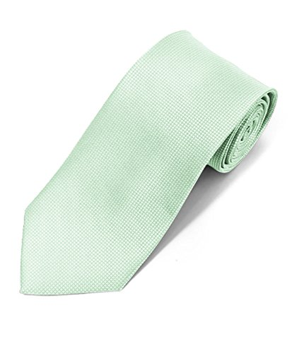 Silky Feel Solid Micro Woven Tie (Celery)