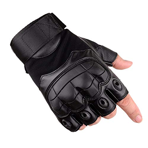 Xiaoai Tactical Gloves, Half Finger Military Rubber Hard Knuckle Gloves Fit for Outdoors Exercise Climbing Racing Hiking