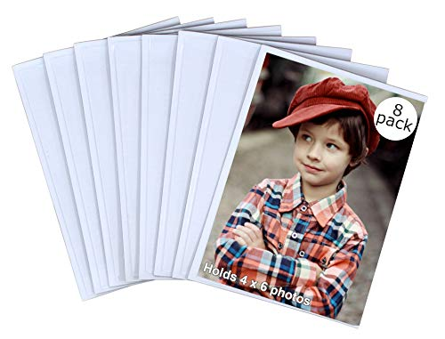 Iconikal 4 x 6 Magnetic Photo Sleeves - 8 - Pencil Frame Photo Holder
