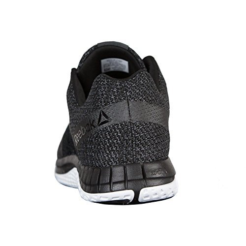 Reebok Mens Zprint Run Ultraknit Running Shoe Black/Coal/White/Dust Size: 9/US