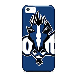 Shock Absorption Hard Phone Covers For Iphone 5c (QGm1527ivoH) Customized Realistic Indianapolis Colts Skin