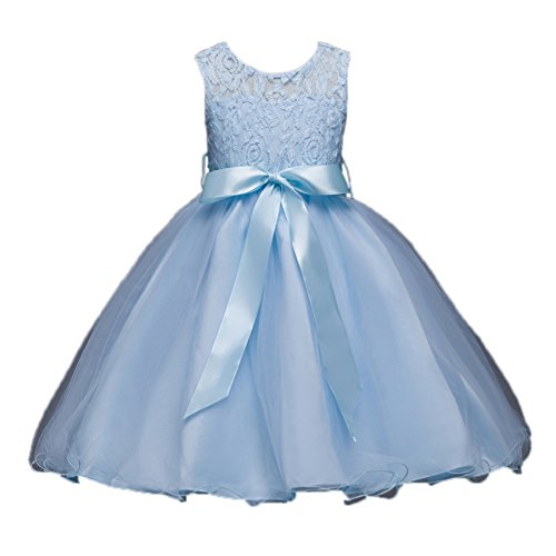 light blue child dress - 3