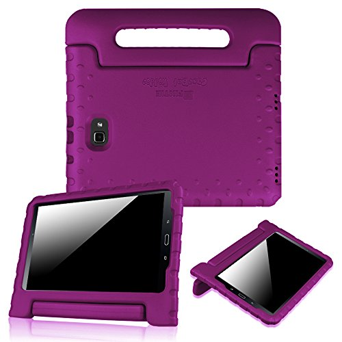 Fintie Shock Proof Case for Samsung Galaxy Tab A 10.1 (2016 NO S Pen Version), Light Weight Convertible Handle Stand Kids Friendly Cover for Samsung Galaxy Tab A 10.1 Inch (SM-T580/T585/T587), Purple