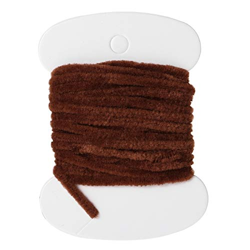 3.0m Nylon Fishing Flies Tying Body Material Fly Tying Tinsel Chenille for Woolly Bugger Worms Rayon Chenille Yarn Fly Fishing Chocolate