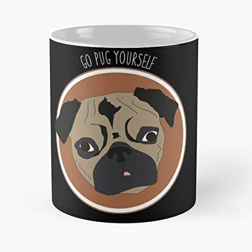(Pug Funny Apug Pets Animals Coffee Mugs Unique Ceramic Novelty Cup)