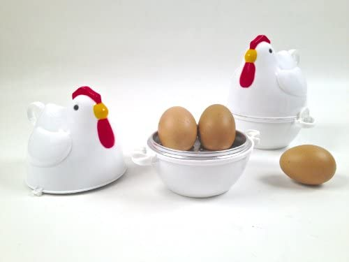 Montemaggi - Objeto para cocer huevos en microondas (para 3 huevos ...