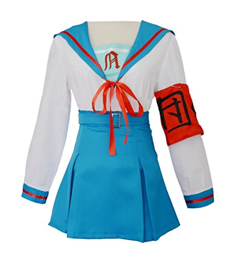 Yunbei Suzumiya Haruhi Cosplay Costume School Uniform (M, Blue)